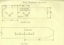 Leather Templates Craft Tip Belt Template Leather Skills