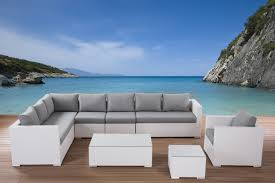 white patio furniture. Outdoor Conversation Set White Wicker Furniture Xxl In Lounge Modern Design Patio