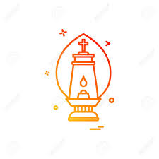 Lalten Lamp Light Icon Vector Design Royalty Free Cliparts Vectors