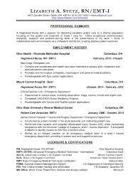 Emergency Room Rn Resume Rn Resume