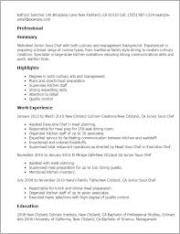 1 Junior Sous Chef Resume Templates Try Them Now Myperfectresume