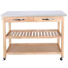 details about kitchen island rolling cart with storage cabinets stainless top organizer cart