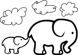 Printable Baby Elephant Coloring Pages Cartoon Ideas Newest Book Nt