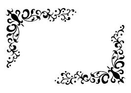 無料ベクトル素材 飾り罫飾り枠コーナーフレームクリップアート