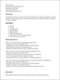 nurse - Sample Public Health Nurse Resume