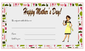 Mother Day Gift Certificate Template Word Gimpexinspection Com