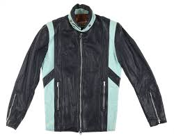 vintage 60s brimaco cafe racer leather biker jacket m