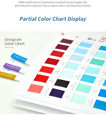 Yama Ribbon Color Chart Card Grosgrain Satin Sheer Organza Plaidgold Silver Granulated Twill Taffeta Stitch Gringe Ribbons