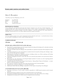 Experience Resume Examples Examples Of Resumes