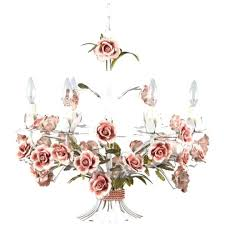tole chandeliers painted chandelier with flowers ref french antiques antique vintage