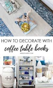 how to decorate with coffee table books