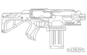 Nerf Coloring Pages Gun Page To Print Guns Rival Jafevopusitop