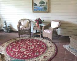 modern round rugs patio