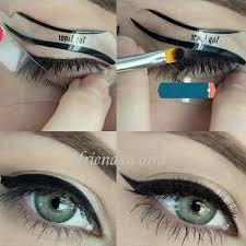 2016 2 styles beauty cat eyeliner models smokey eye stencil template shaper eyeliner makeup tool eyebrow tweezers makeup accessories from friendsworld
