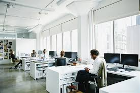 Open Office Design Impressive Decoration