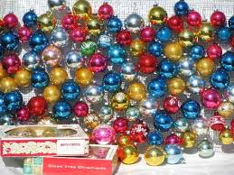 vintage Christmas ornaments, mercury glass balls Shiny Brite, Woolworth's