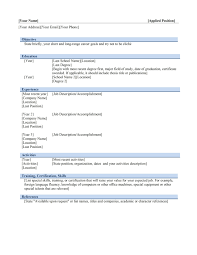 Resume Templae Free Resume Example And Writing Download
