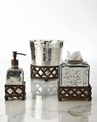 mercury glass bathroom accessories. GG Collection Tumbler, Mercury Glass Bathroom Accessories