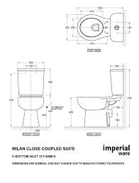 milan close coupled toilet suite