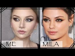 mila kunis makeup transformation