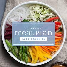 weekly meal plans on a budget 7 day vegan meal plan 1 200 calories eatingwell