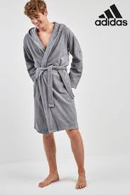 DAVID ARCHY <b>Mens</b> Hooded Fleece Soft Robe Full Length Lounge ...
