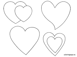 Small Picture Printable hearts shapes Coloring Page