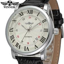online buy whole mens watch companies from mens watch wrg8051m3s3 winner new automatic men silver color dress watch factory company black leather strap shipping