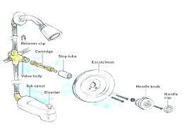 parts of a shower faucet diagram shower faucet replacement parts shower handle repair replacement shower handle