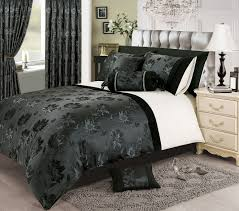 black silver white colour stylish fl jacquard duvet cover luxury beautiful glamour bedding