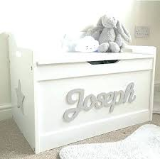 white wooden toy chest personalized toy chest girls boys wooden personalised toy box storage box chest