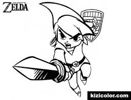 In the legend of zelda: Link Free Printable Coloring Pages For Girls And Boys Page 1