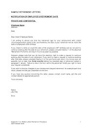 Sample Retirement Letter Gplusnick