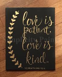 Love Is Patient Love Is Kind Canvas By SimplicityPaints On Etsy Amazing Love Quote Canvas