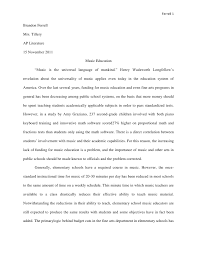 music education research paper music education research paper ferrell 1brandon ferrellmrs tilleryap literature15 2011