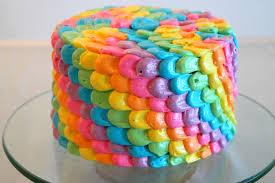 Resultado de imagem para bolo decorado arco iris