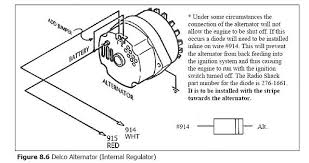 chevy one wire alternator diagram wiring diagram and schematic delco 1 wire alternator diagram on amc car