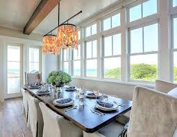 beach house chandelier originals shell double drum dining room light fixtures