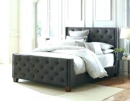 Metal Bed Frame For Head And Footboard Black King Size With ...