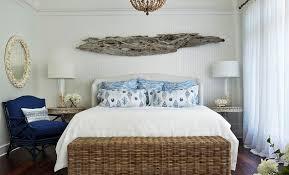 coastal bedroom with sea inspired bedding