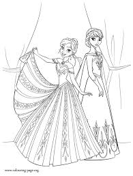 Small Picture Frozen The Sisters Anna And Elsa Coloring Page Coloring Home