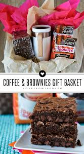 easy gift basket idea perfect for neighbors teachers or friends coffee a mug and some homemade coffee brownies