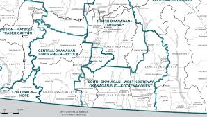 the new federal riding of south okanagan west kootenay will take in the largest part