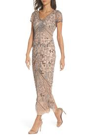 Details About Pisarro Nights Beaded Longline Gown Sz 8 248 Rose