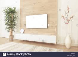 Wall Design For Flat Screen Tv Blank Modern Flat Screen Tv Hanging On Wall In Living Room