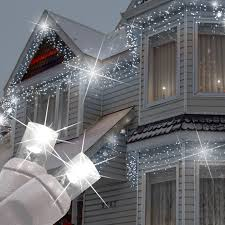 Indoor Christmas Lights White Wire 5mm Cool White Twinkle Led Icicle Lights Christmas House