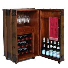 Steamer Trunk Furniture One Of A Kind Vintage Steamer Trunk Wine Bar Cabinet Handcrafted