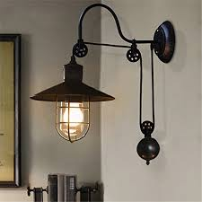 farmhouse style lighting fixtures. BAYCHEER HL410694 Industrial Retro Farmhouse Style Lifting Pulley Retractable Adjustable Glass Birdcage Wall Lamp Light Sconce For Bedroom Restaurant Lighting Fixtures I