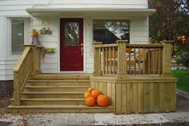 Wood Front Porch Designs Steps On Octagon Front Porch Design House Front Porch