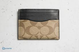 new authentic coach mens leather card